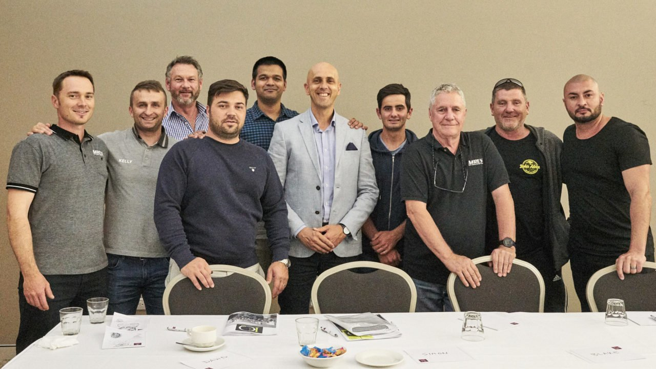 SARS Team in Adelaide for training. From left, Raz, Kelly, Tim, Dan, Nish, Nathanael, David, paul, Simon and Paul.